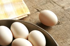 Some Eggs In A Bowl Stock Image