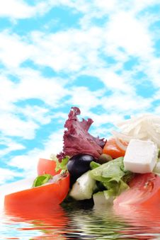 Free Greek Salad Royalty Free Stock Photography - 8428257