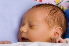 Free Caucasian Baby Boy Sleeping Royalty Free Stock Photo - 8428635