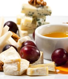 Free Cheese Plate Royalty Free Stock Image - 8429036
