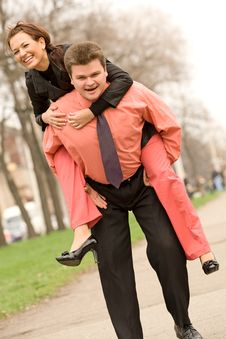 Free Playful Active Caucasian Couple Stock Photo - 8429270
