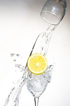 Free Lemon With Water Stock Photography - 8429332
