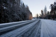 Free Winter Road Royalty Free Stock Photo - 8429525