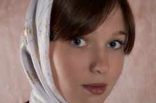 Free Portrait Of The Girl In A Kerchief Royalty Free Stock Photography - 8429567