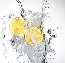 Free Lemon With Water Stock Images - 8429744