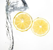 Free Lemon With Water Royalty Free Stock Photo - 8429885
