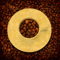 Free Grunge Background With Coffee Elements Royalty Free Stock Images - 8430959