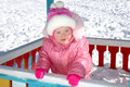 Free Pretty Little Girl And Winter Playground. Royalty Free Stock Image - 8432566