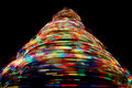 Free Christmas Tree Light Trails Royalty Free Stock Photos - 8434248