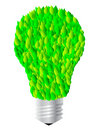 Free Lightbulb With Leaves Stock Images - 8434894