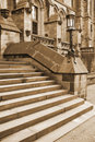 Free Sepia Gothic Steps To Ancient Building Stock Photos - 8439533