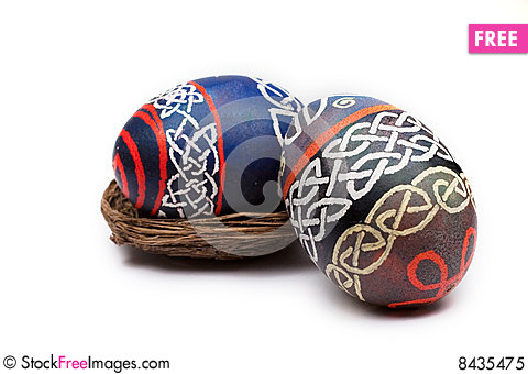 Free Celtic Easter Eggs Royalty Free Stock Photo - 8435475