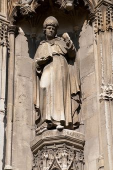 Free Old Statue Of A Bishop Stock Photography - 8430002
