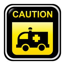 Free Caution Sign - Ambulance Stock Images - 8430104