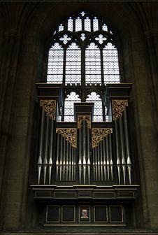 Free Ancient Organ At A Church Stock Images - 8430404
