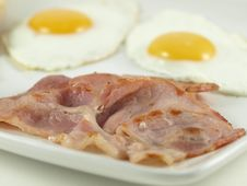 Free Eggs And Bacon. Royalty Free Stock Images - 8430859