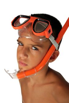 Snorkeling Boy Royalty Free Stock Photos