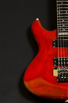 Free Closeup Of An Electric Guitar Stock Photography - 8431532