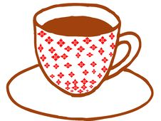 Free Cup Of Coffee Illustration Royalty Free Stock Photo - 8432235