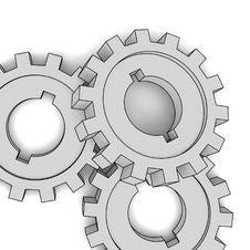 Free Cogwheels - Business Network (isolated Illustratio Royalty Free Stock Photos - 8432528