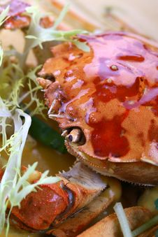 Free Fry Asian Food-crab Royalty Free Stock Images - 8432999