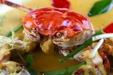 Free Fry Asian Food-crab Stock Image - 8433011