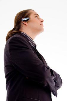 Businessman Wearing Headset Stock Photo