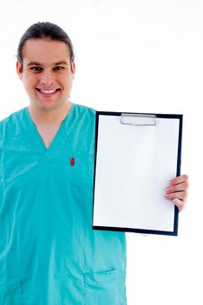Free Male Doctor With Prescription Notepad Stock Images - 8433274