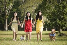 Free Girlfriends Outdoor In The Park Stock Photo - 8433840