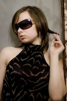 Free Girl In Dark Glasses Stock Photos - 8434033