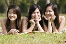Free Girlfriends Outdoor In The Park Royalty Free Stock Images - 8434059