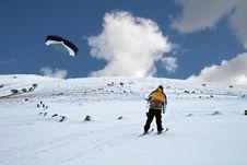 Kite Skiing Royalty Free Stock Photo
