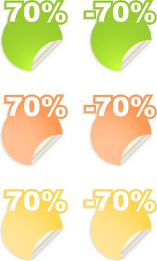 Vector Stickers With Text  Percent Stock Photo
