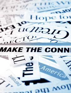 New Paper Headlines Stock Photos