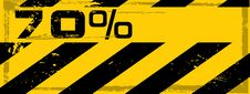 Vector Grunge Danger Percent Banner Royalty Free Stock Photography