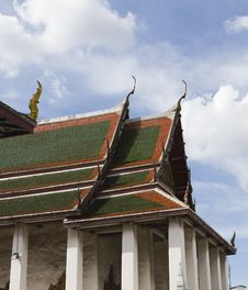 Buddhist Temple In Bangkok Royalty Free Stock Photography