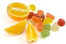 Free Fruit Candy And Orange Stock Photo - 8435400