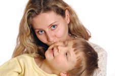 Free Mum S Kiss Stock Photo - 8435430