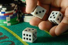 Free Rolling Dice Royalty Free Stock Images - 8435749