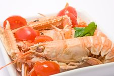 Free Shrimps Royalty Free Stock Photos - 8436048