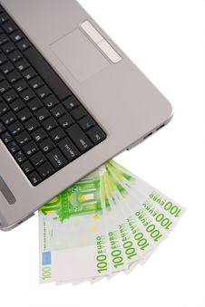 Free Money And Laptop Stock Image - 8436101