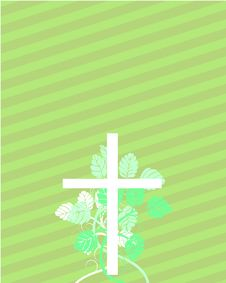 Free Easter Cross With Floral Elements Royalty Free Stock Images - 8436119