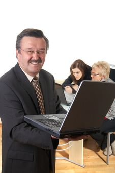 Free Laptop At Work Stock Photography - 8436182