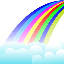 Free Rainbow In The Sky Stock Photography - 8436382