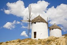 Free Greek Windmills Stock Photography - 8436562