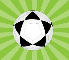 Free Soccer Ball With Rays Royalty Free Stock Photos - 8436768