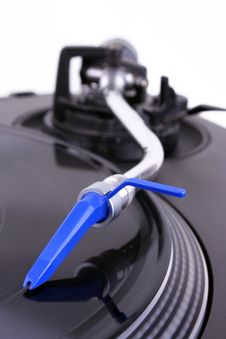 Free Turntable With Needle Royalty Free Stock Images - 8437089