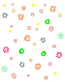 Free Colorful Floral Background Royalty Free Stock Photography - 8437207