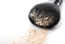 Free Powder And Black Brush Isolated Stock Photography - 8437712
