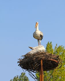 Free Statue Of The Stork Stock Photos - 8438083